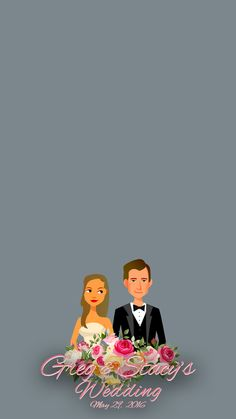 Custom wedding Snapchat Geofilter with personal bride and groom cartoons #weddinginspo #weddinginspiration #mysnapfilter #weddingideas #customgeofilters #diywedding #engagementparty #snapchat #mysnapfilter #happilyeverammon
