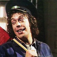 """Tim Curry in Schmoedipus: """"Come see the choo-choos!"""""""