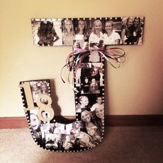18th Birthday Present Cut Out Initial With Pictures My Bestfriend And I