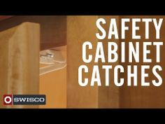 SWISCO Safety Cabinet Catches  -  designed for use on most cabinet doors or drawers to deter small children access  -  Babyproofing