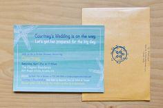 Beachy Bridal Shower Invitation By: Milk & Ice Cream