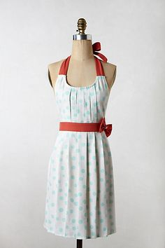 Polka Pleats Apron #anthropologie