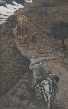 James Tissot - Saint Pierre et Saint Jean suivent de loin