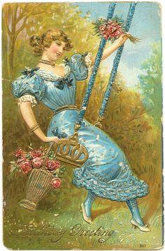 1908 Birthday Greeting Postcard by Vintage America, via Flickr