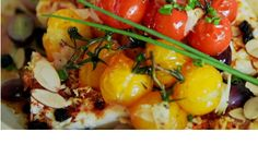 Feta and trim tomato confit - Recipes - À la di Stasio Tomato Confit Recipe, Confit Recipes, Quebec, Appetizer Recipes, Appetizers, Healthy Snacks, Healthy Eating, Brunch, Breakfast Smoothies