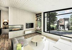 Plan de maison Ë_146 | Leguë Architecture Plane, Drummond House Plans, Best Investments, Unique Colors, My House, Bathtub, Contemporary, How To Plan, Interior Design