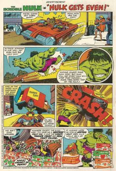 The HULK gets even.  Hostess Fruit Pie AD.    Dads Dish Retro Blog