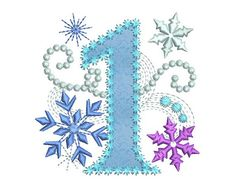 Ice Princess Number 1 Frozen Happy Birthday by EmbroideryLand
