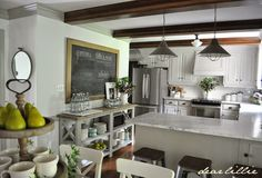 Our Summer Kitchen and Family Room  by Dear Lillie