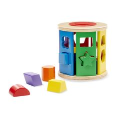 "B2 Completing a form box or ""shape sorter"" by fitting 6 pieces in  the right shape only by looking and locate. They can come in any shape or size!  The links have different options  http://www.toysrus.com/buy/fisher-price-baby-s-first-blocks-2501235"