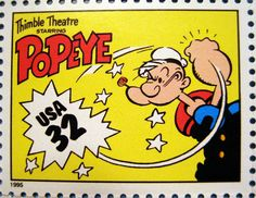 Popeye - Thimble Theatre Stamp 2476, via Flickr.