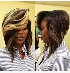 """Want to switch to a more stylized version of the cut squared? The """"bob"""" is all right. Focus on this trendy haircut already adopted by celebrities. The """"bob"""" is a variant of the square stricto sensu since it is more… Continue Reading → Quick Weave Hairstyles, Bob Hairstyles, Straight Hairstyles, Pinterest Hairstyles, African Hairstyles, Haircuts, Wedding Hairstyles, Girl Short Hair, Short Hair Cuts"""