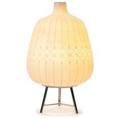 Table Lamps - Relief Drip Ceramic Table Lamp $295 16″ H 10″ W Unglazed porcelain bisque and polished nickel base Single cord switch 60-watt max type A bulb (not included)