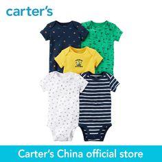 33fbbe5da7b1 5-Pack de Carter bebé niños niños clothing Boy Todas Las Estaciones de  Algodón Original de Manga Corta Monos 126H265
