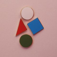 All four one and one for all 🎉 #pinparty #plainpins #plainisperfect #enamelpin #pin #colour #shape #geometry