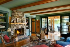 Rustic Open Space Concept Living Room