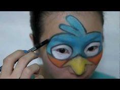 Angry Bird Face Paint Tutorial