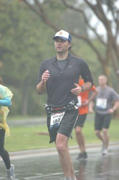 Musician Ben Gibbard of Death Cab for Cutie running the 2011 LA Marathon in a finishing time of 3:56:34