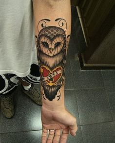 Owl forearm tattoos - 55 Awesome Forearm Tattoos <3 !