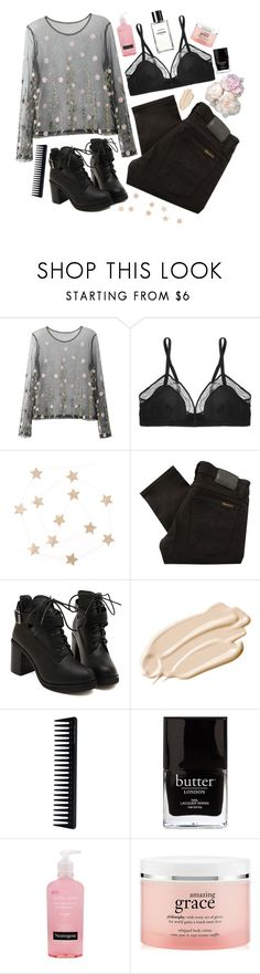 """Untitled #601"" by mojojojo12 ❤ liked on Polyvore featuring Eres, Nudie Jeans Co., Stila, GHD, Jack Black, Neutrogena, philosophy and Chanel"