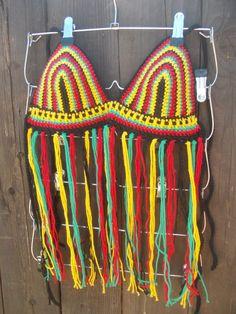 #crochettop #crochethalter #fringetop #rastatop #rasta #hippie #festivals #raves #fashion #trending