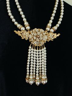 Stanley Hagler N.Y.C. Timeless Design, Sparkles, Pearl Necklace, Vintage Jewelry, Nyc, Jewellery, Pearls, Diamond, Accessories