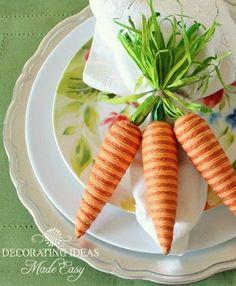 Easter Table...Pier 1 Carrot napkin rings!