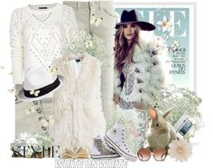"""""""Embellished white Get the Rosie's White on White look!!!"""" by thilika on Polyvore"""