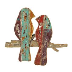 Distressed Birds in Branches Wood Plank Plaque | Kirklands