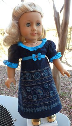 18 Doll Clothes Regency Gown For Winter Fits by Designed4Dolls, $14.95