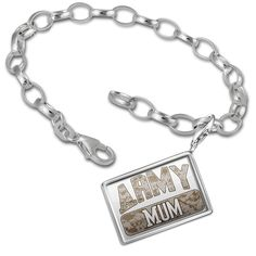 Charm Bracelet set ARMY Mum, Camo - Neonblond -- You can get additional details at the image link.