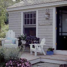 Coastal Cottage 101 | Sleepy Hollow Cottage | Porch entrance and sign