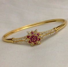 CZ and uby stone kada Code : BAK 378 Price : 700/- Whatsapp to 09581193795/- for order processing....