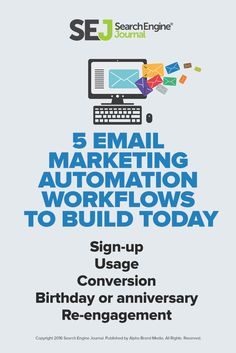 Email marketing is all about getting the right message to the right people at the right time. These five automation workflows are must-haves for your marketing arsenal.