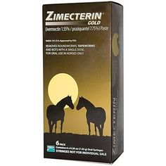 Zimecterin Gold 6 pack by Zimecterin. Save 31 Off!. $59.99. Be Aware of Shipping Costs!  Please read our shipping policy.. Controls 47 species and stages of parasites including tapeworms. Contains 6-single dose tubes. Treats 1250 lb body weight (each). 1.55% Ivermectin + 7.75% Praziquantel. For Oral Use In Horses - One Syrnge Given Orally Will Treat Between 250 Lbs And 1250 Lbs.The More Complete The Protection The Healthier The Horse. That Is Why Zimecterin?½ Gold (Ivermectin...