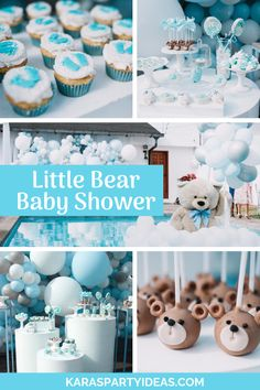 Little Bear Baby Shower Vintage :: Kara's Party Ideas Baby Cake Pops, Splash Party, Baby Shower Parties, Baby Boy Shower, Free Baby Shower Printables, Free Printable, Superhero Theme Party, Baby Shower Vintage, Donut Party