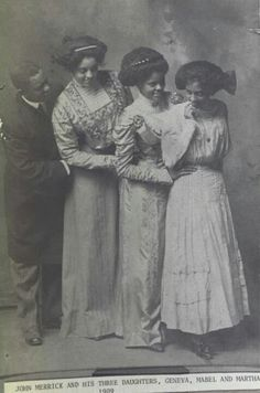 John Merrick: One of the founders of North Carolina Mutual Life Insurance Company, with his daughters; Geneva, Mable and Martha (c.1902)