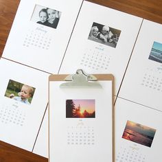 Make a beautiful customized 2016 photo calendar with these free printable calendar pages. Great easy, cheap DIY Christmas gift idea!