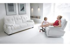 Modern Three-Seat Sofa, Loveseat, and reclining armchair Classic Sofa, Counter Stools, Recliner, Modern Furniture, Sofas, Mattress, Love Seat, Armchair, Dining Table