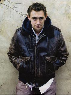JJ Feild...leather jacket...every good man wears a leather jacket.