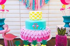 Flamingo cake from a
