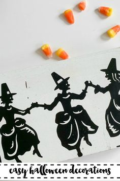 Create this darling dancing witch decor piece in just minutes! Find the DIY on Everyday Party Magazine. #Halloween #DIYHalloween #CricutMade