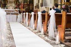 Bildergebnis für dekoracja kościoła na ślub Bridal Shower, Wedding Decorations, Candles, Image, Whimsical, Weddings, Valentines Day Weddings, Wedding, Ideas