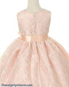 Image detail for -Azalea - Pink Lace Flower Girl Dress