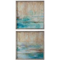 Uttermost U0027Through The Mistu0027 Abstract Framed Wall Art ($302) ❤ Liked On