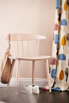 Gorgeous wallpaper design by Scion in blush pink.