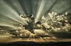 Rays of light.  After seeing this, I don't know how anyone couldn't believe.