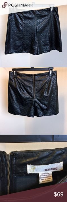 Faux Black leather shorts ⚜️ PLEASE FEEL 🆓 to make an OFFER!  ⚜️ THIS 🆕 item in my closet is in EXCELLENT pre-💜ed condition. I GUARANTEE YOU will be 😁happy 😊 with this purchase! Today YOU get 3️⃣0️⃣% off when YOU buy 3️⃣➕ items. 🆓 PAIR OF EARRINGS WITH EVERY BUNDLE ORDER!  💵💵💵 YOU will receive $10 in DEGOTTO DOLLARS with EVERY purchase!! 💵💵💵✨P.S. I 💜OFFERS!!!✨ Please scroll ALL the way through my closet because YOU will find 💥💣 Dynamite Deals @degotto! 💣💣 💥💥📦SHIP 🛳…