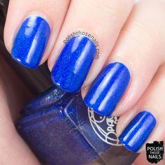 Parallax Polish - Broca's Area  #nails, #nailpolish, #indie, #indiepolish, #indienailpolish, #parallaxpolish, #polishthosenails, #swatch, #blue, #holo, #brocasarea,