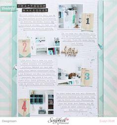 Craftroom Makeover - Layout mit dem Juni-Kit der Scrapbook Werkstatt von EvelynLaFleur